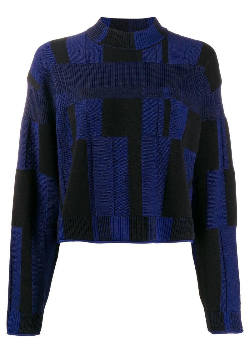 Proenza Schouler patchwork plaid jumper