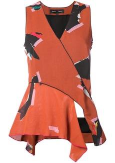 Proenza Schouler patterned v-neck sleeveless blouse