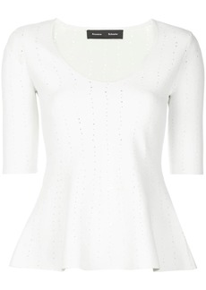 Proenza Schouler perforated knitted top