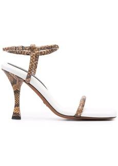 Proenza Schouler Pipe snakeskin-effect sandals