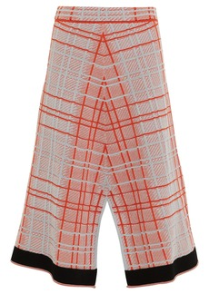 Proenza Schouler Plaid Knit Split Skirt