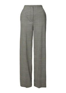 Proenza Schouler Plaid Wide Leg Wool Pants