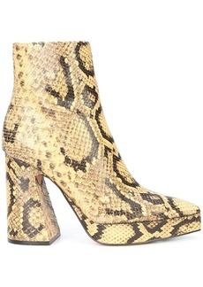 Proenza Schouler Python-Embossed Platform Boots