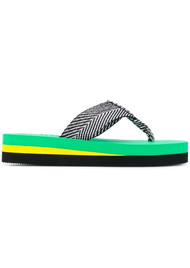 platform sole flip-flops