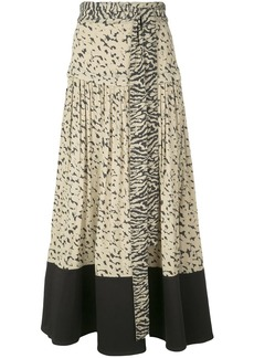 Proenza Schouler pleated animal-print skirt