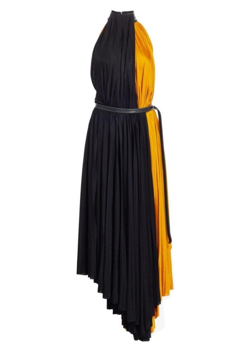 Proenza Schouler Pleated Colorblock Jersey Midi Dress
