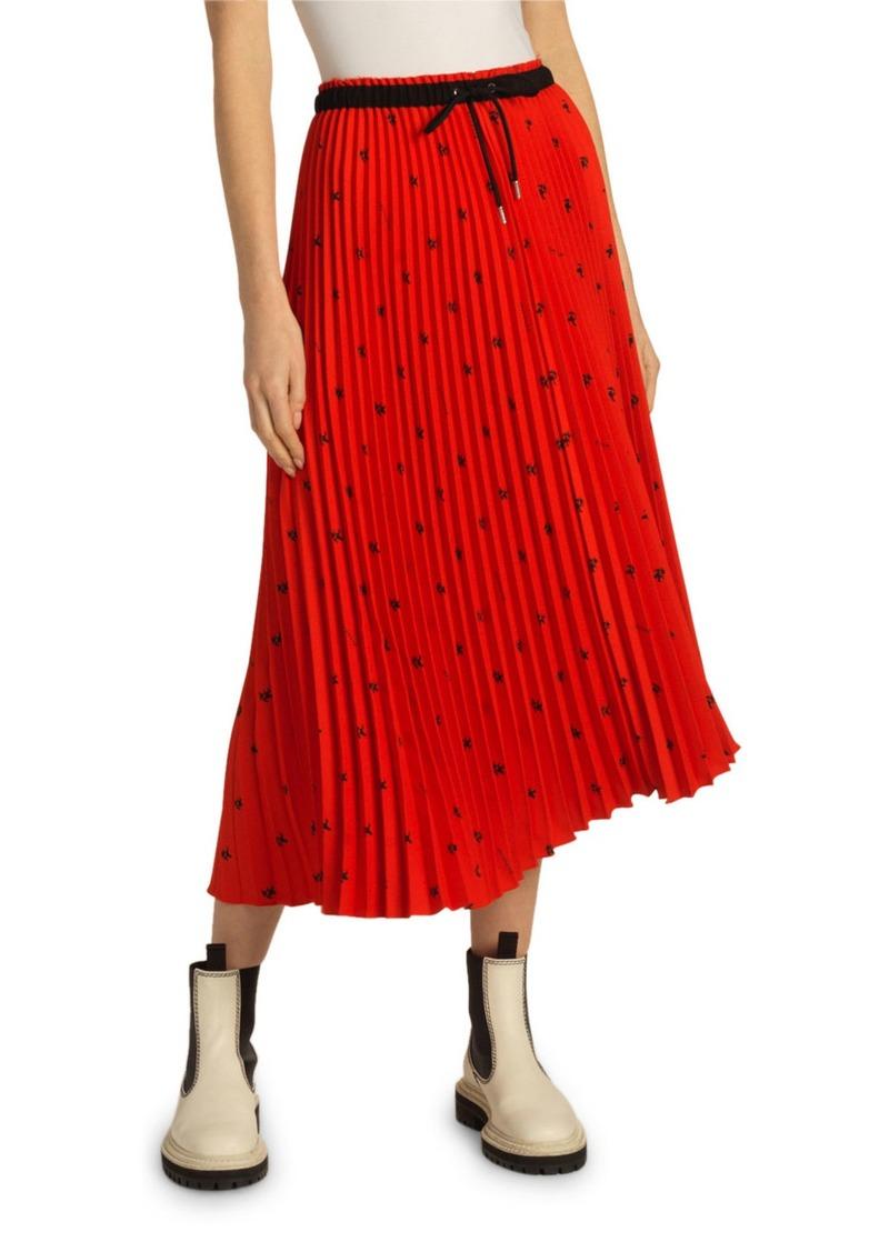 Proenza Schouler Pleated Drawstring Midi Skirt