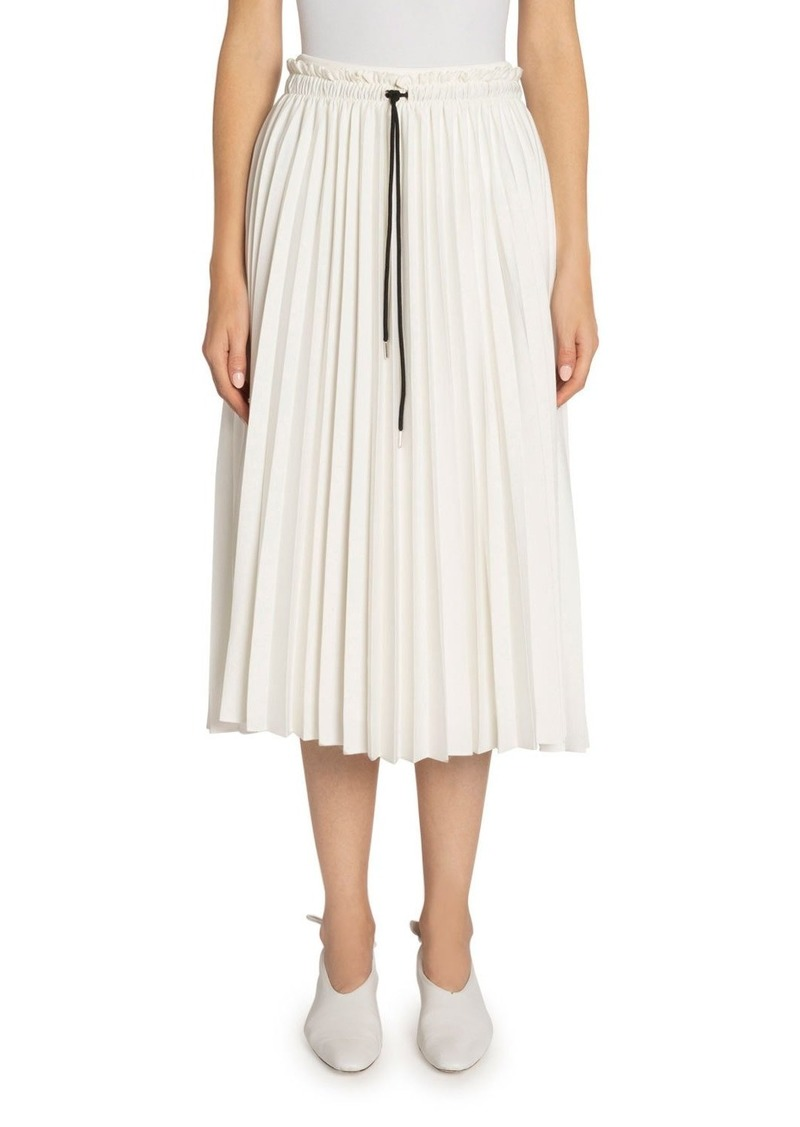 Proenza Schouler Pleated Georgette Drawstring Midi Skirt