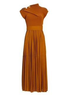 Proenza Schouler Pleated Knit Jersey Maxi Dress