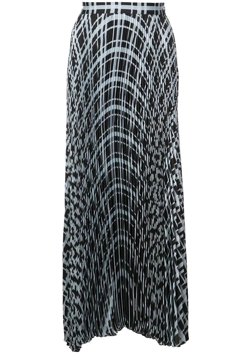 Proenza Schouler Pleated Plaid Chiffon Skirt