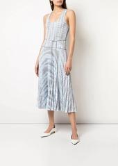 Proenza Schouler pleated tie-dye dress