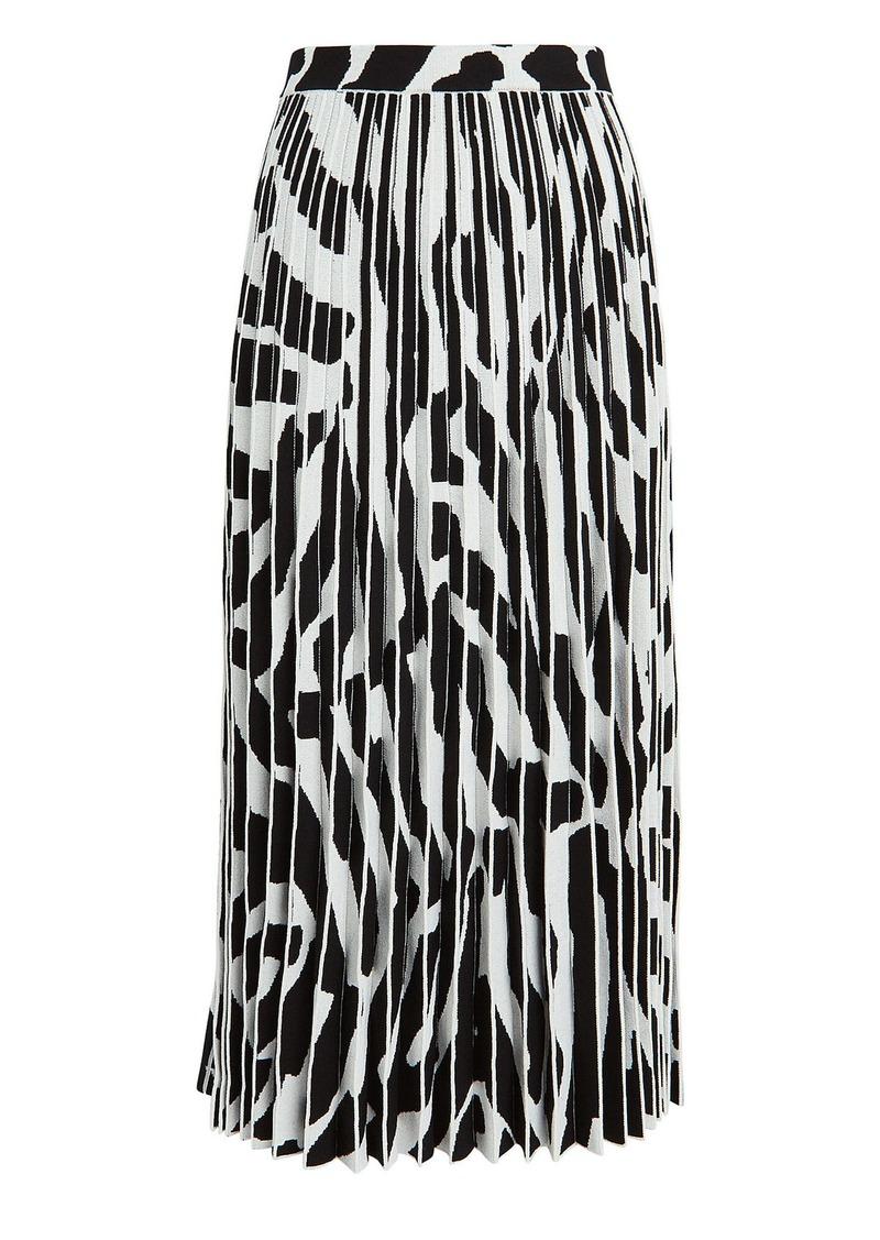 Proenza Schouler Pleated Zebra Midi Skirt