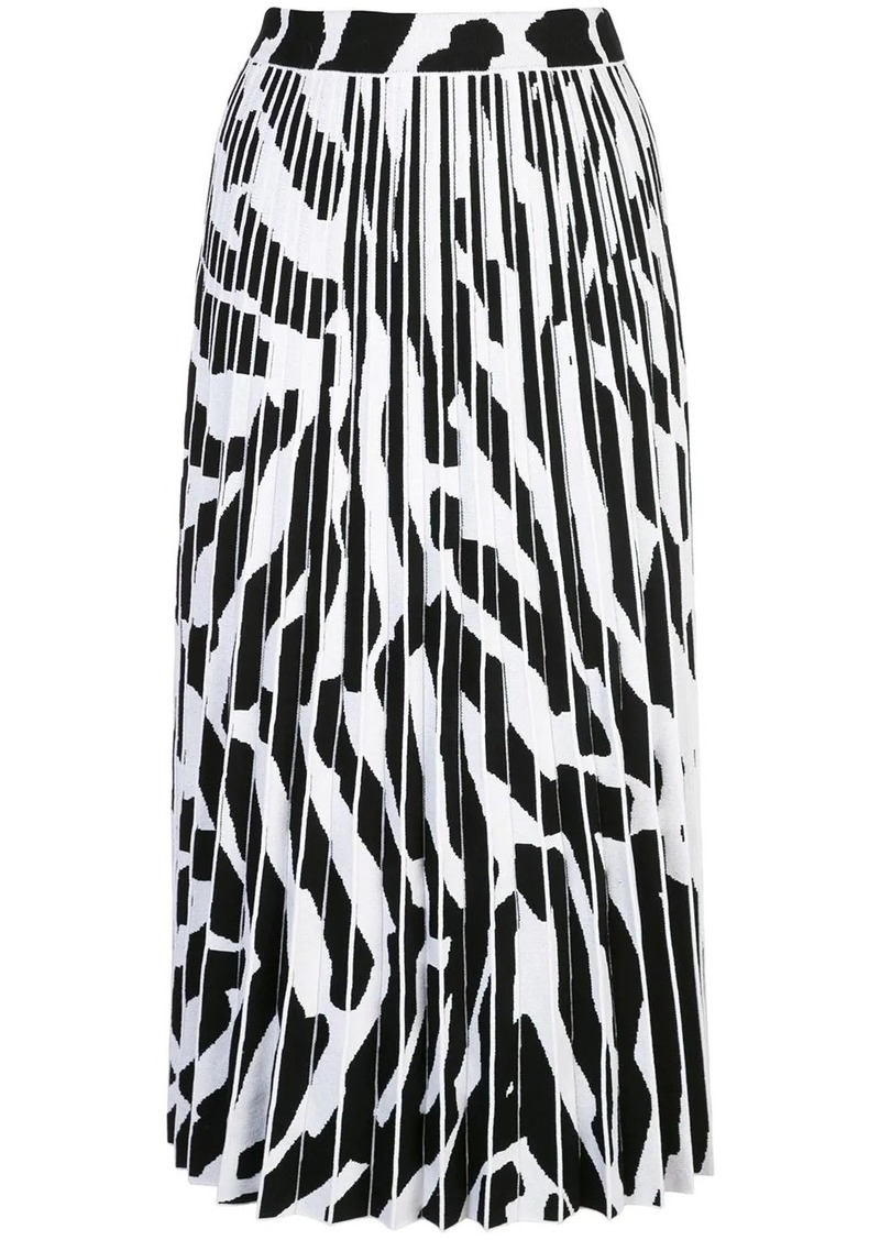 Proenza Schouler pleated zebra-print skirt