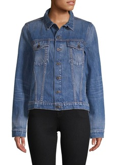 Proenza Schouler Point Collar Denim Jacket