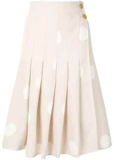 Proenza Schouler polka-dot pleated skirt