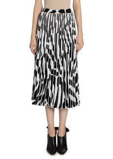 Proenza Schouler Printed Accordion Pleated Midi Skirt
