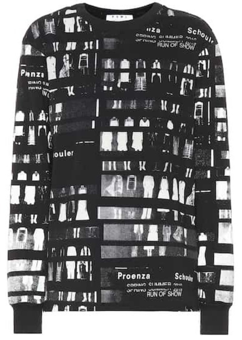 Proenza Schouler Printed cotton top
