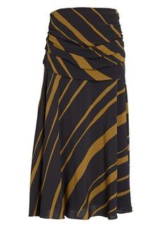 Proenza Schouler Printed Crepe Midi Skirt