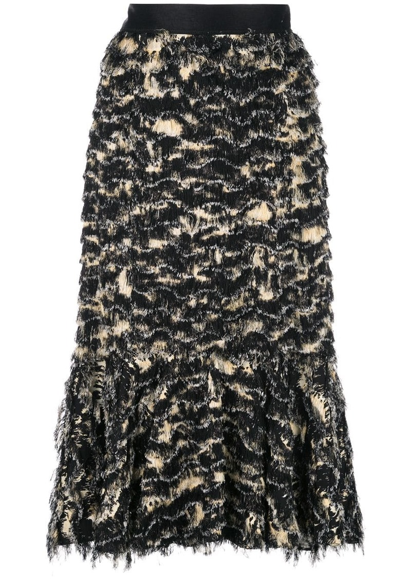 Proenza Schouler Printed Fil Coupe Long Skirt