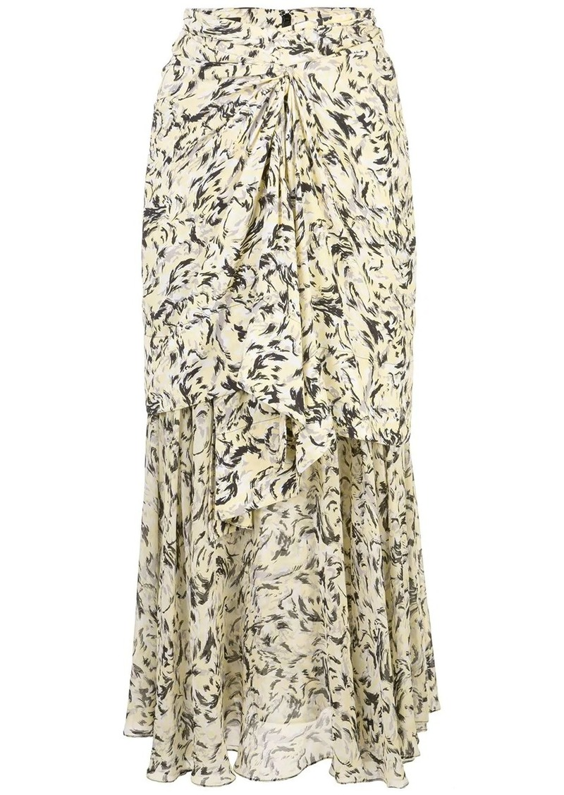 Proenza Schouler printed layered long skirt