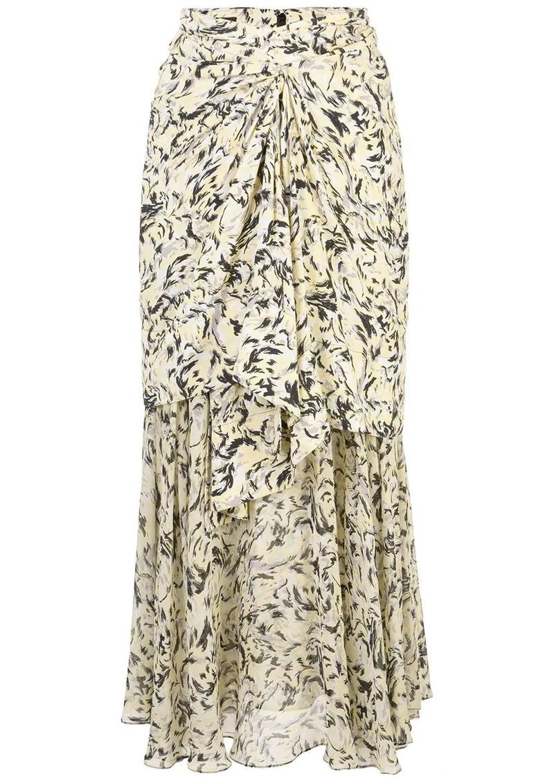 Proenza Schouler printed layered long skirt