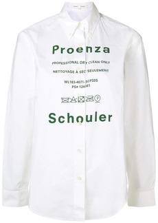 Proenza Schouler printed logo shirt