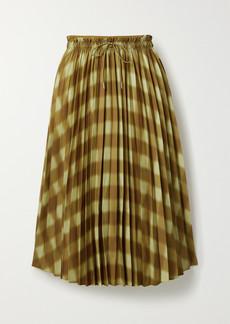 Proenza Schouler Printed Pleated Crepe Midi Skirt