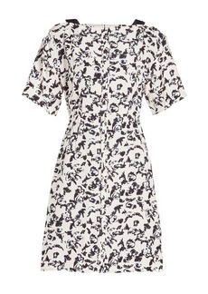 Proenza Schouler Printed Silk Cocktail Dress