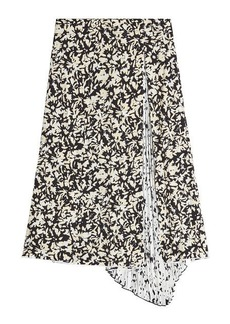 Proenza Schouler Printed Silk Skirt with Pleats