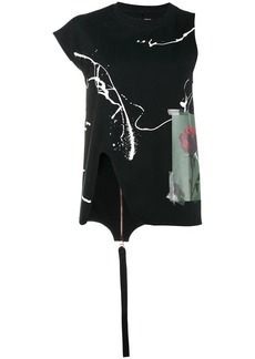 Proenza Schouler Printed Top with Asymmetrical sleeves