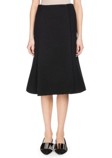 Proenza Schouler A-Line Boucle Suiting Midi Skirt