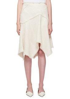 Proenza Schouler Asymmetric Boucle Tweed Skirt