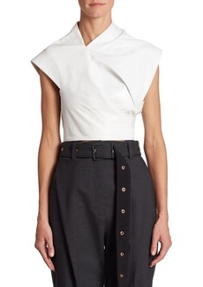 Proenza Schouler Asymmetric Leather Wrap Top