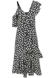 Proenza Schouler asymmetric ruffled dress - Black