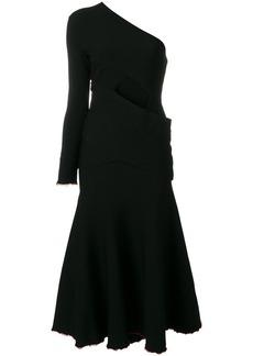 Proenza Schouler asymmetrical one sleeve dress - Black
