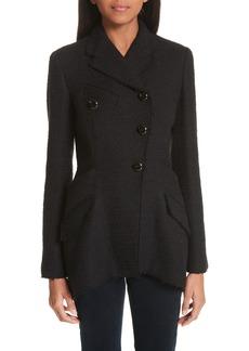 Proenza Schouler Asymmetrical Placket Tweed Jacket