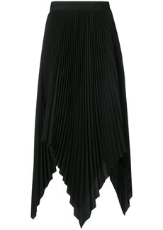 Proenza Schouler Asymmetrical Pleated Skirt - Black