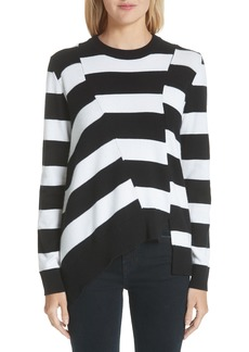 Proenza Schouler Asymmetrical Stripe Sweater (Nordstrom Exclusive)