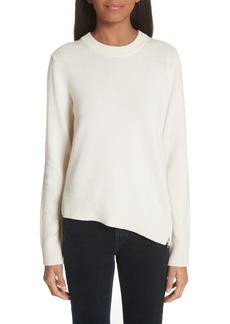 Proenza Schouler Asymmetrical Zip Detail Wool, Silk & Cashmere Sweater
