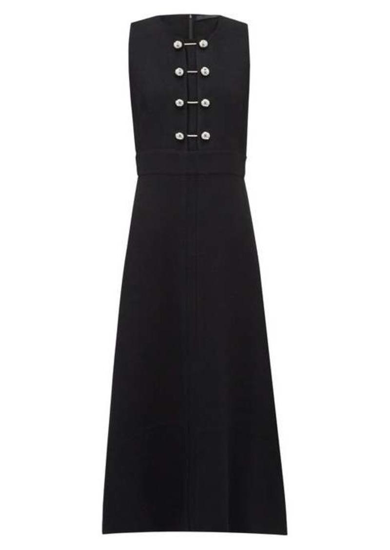 Proenza Schouler Bar-embellished cut-out crepe dress