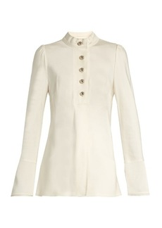 Proenza Schouler Bell-sleeved satin blouse