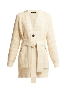 Proenza Schouler Belted chunky-knit cotton-blend cardigan