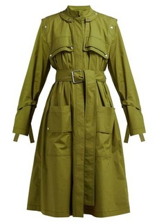 Proenza Schouler Belted cotton-blend single-breasted trench coat