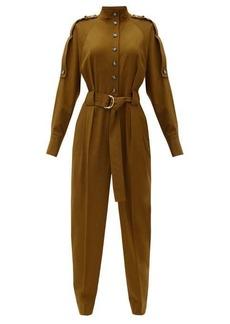 Proenza Schouler Belted wool-blend jumpsuit
