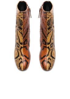 Proenza Schouler Bicolor Python Print Ankle Boots
