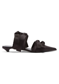 Proenza Schouler Bow-embellished satin mules