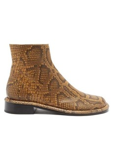 Proenza Schouler Boyd python-effect leather ankle boots