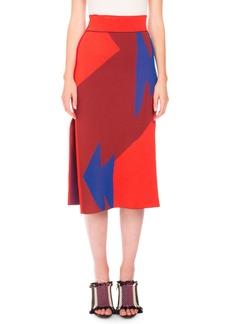 Proenza Schouler Broken Triangle Jacquard Skirt
