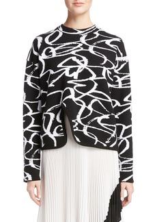 Proenza Schouler Brushstroke Jacquard Sweater