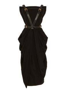 Proenza Schouler Buckle-Detailed Midi Apron Dress